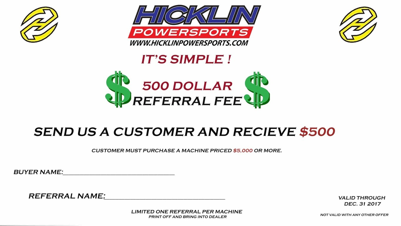 Hicklin Referral Program